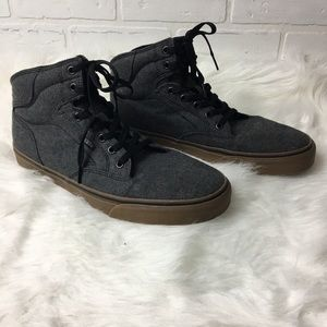 Vans High Top Men's Gray Canvas Sneaker NWOT